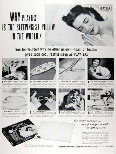 1950 Playtex Pillows #024407