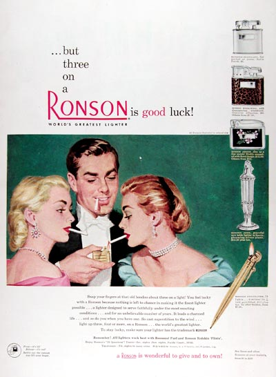 1950 Ronson Lighters #023707