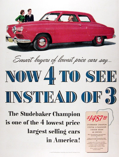 1950 Studebaker Champion 2-Door Sedan #023614