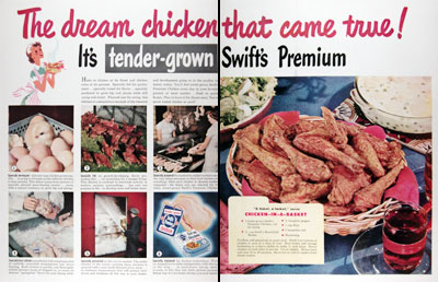 1950 Swift's Premium Chicken #023625