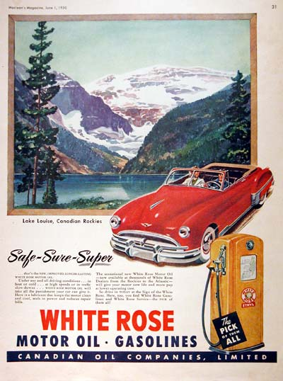 1950 White Rose Vintage Ad #001935