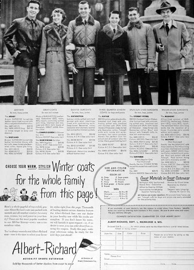 1951 Albert Richard Winter Coats #024523