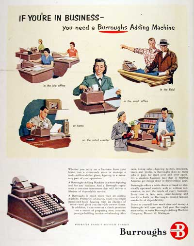 1951 Burrough's Adding Machine #003712