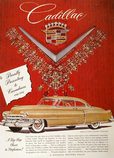 1951 Cadillac Coupe Vintage Ad #001461