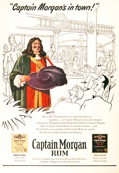 1951 Captain Morgan Vintage Ad #000707