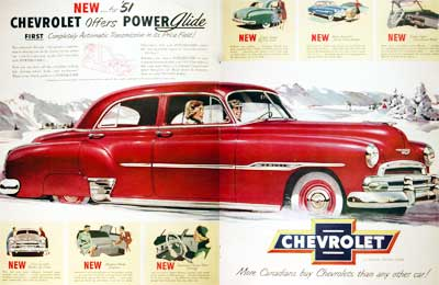 1951 Chevrolet Deluxe Vintage Ad  #001933