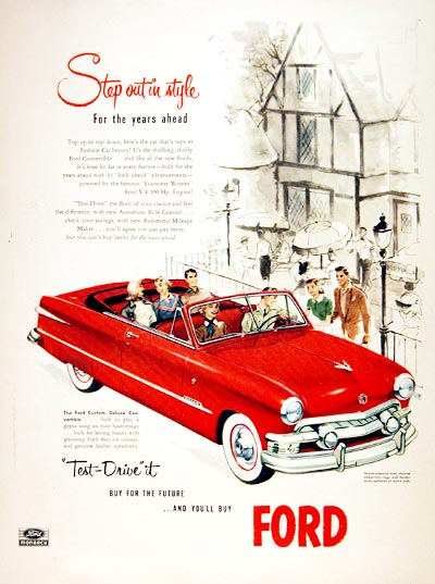 1951 Ford Convertible #002228