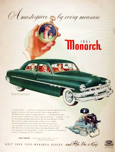 1951 Ford Monarch Vintage Ad #001917