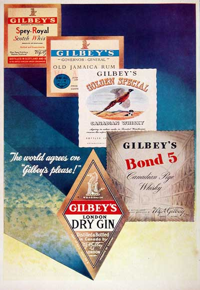 1951 Gilbey's Gin #002914