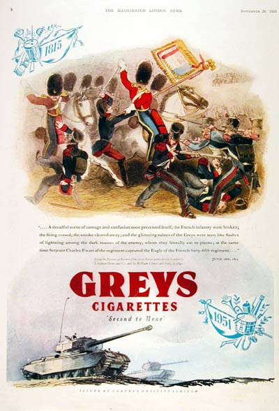 1951 Greys Cigarettes #003125
