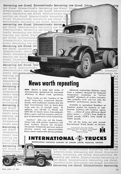 1951 International Trucks Vintage Ad #000705
