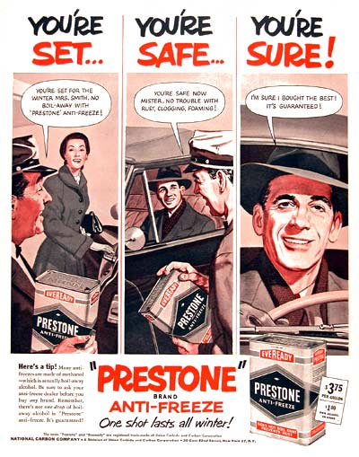 1951 Prestone Anti-Freeze #003699