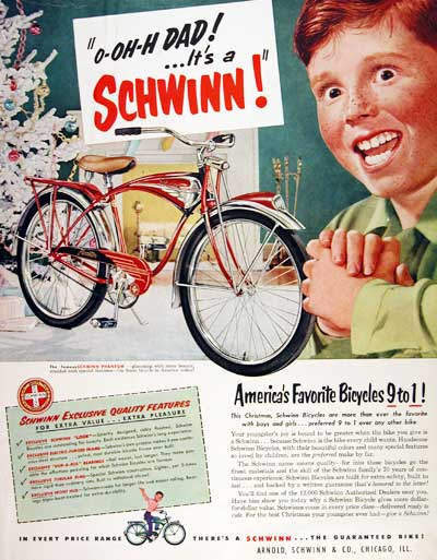 1951 Schwinn Bicycle #003394