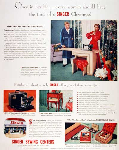1951 Singer Sewing Machine #003395
