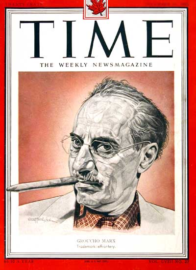 1951 Time Cover - Groucho Marx