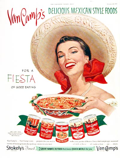 1951 Van Camp's Mexican Foods #003676
