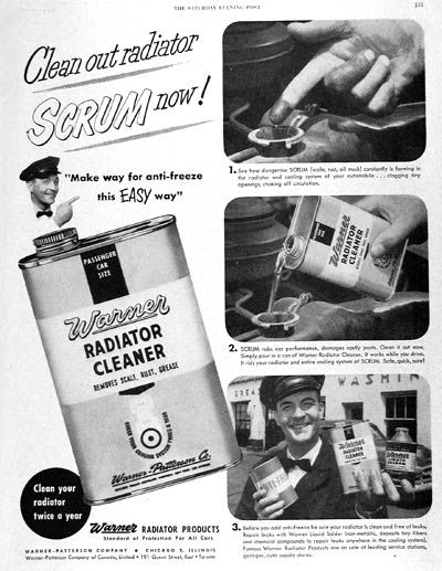 1951 Warner Radiator Cleaner #003708