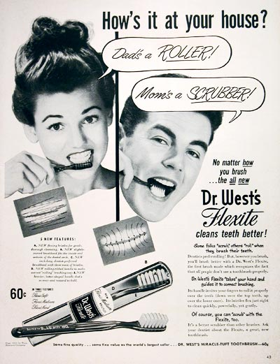 1952 Dr. West Toothbrush #004070