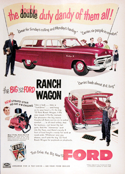 1952 Ford Monarch Ranch Wagon Vintage Ad #025295