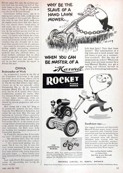 1952 Maxwell Power Mower Vintage Ad