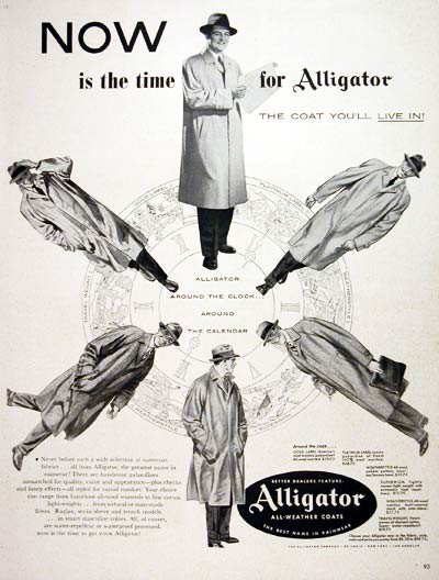 1953 Alligator Trench Coats #004057