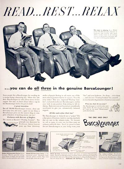 1953 BarcaLounger Chair #004059