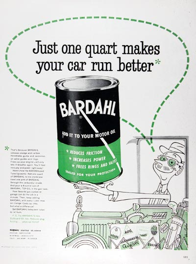 1953 Bardahl Motor Oil Additive #024641