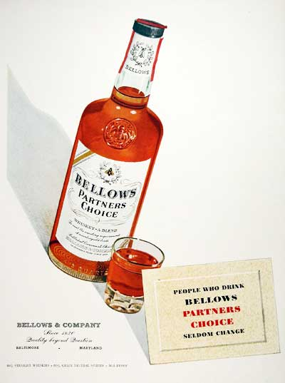 1953 Bellows Whiskey #004052