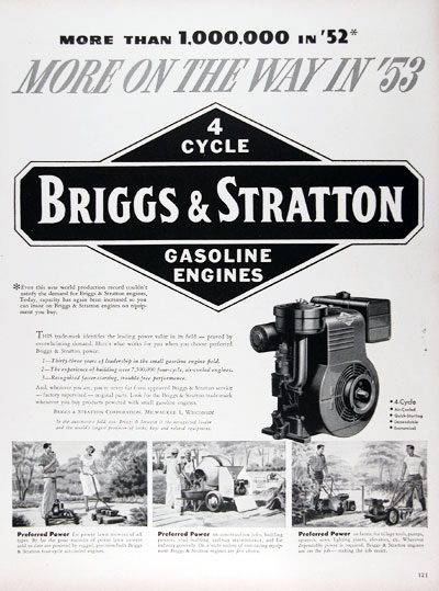 1953 Briggs & Stratton Gasoline Engines #024627