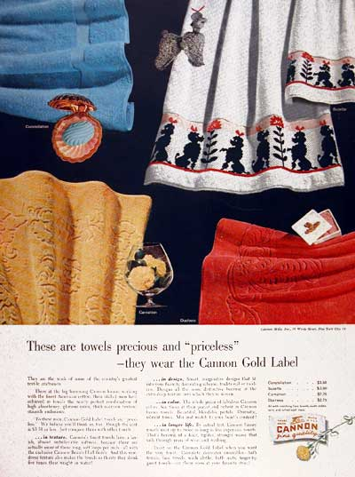 1953 Cannon Towels #003455