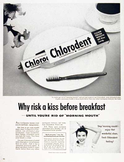 1953 Chlorodent Toothpaste #003457