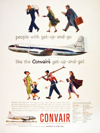 1953 Convair Airplanes #004494
