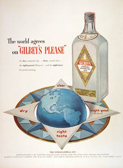 1953 Gilbey's Dry Gin #004498