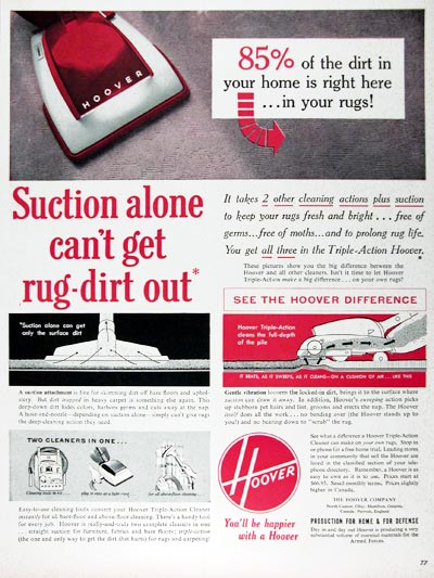 1953 Hoover Vacuum Cleaner #024606