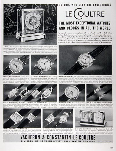 1953 Le Coultre Watch & Clock Co. #024640