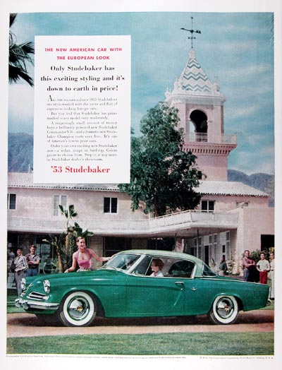 1953 Studebaker Commander Starliner V8 #024638