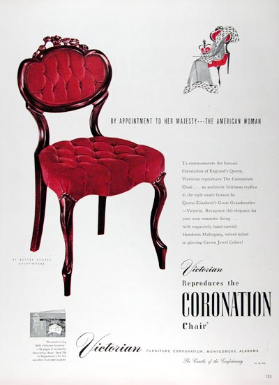 1953 Victorian Coronation Chair #024633