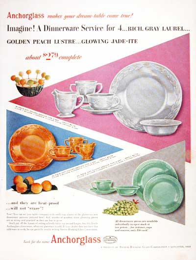 1954 Anchorglass Dinnerware #003991