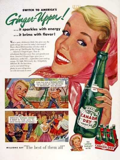 1954 Canada Dry Ginger Ale #004452