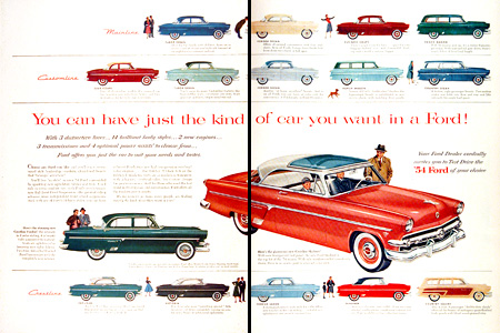 1954 Ford Complete Model Line