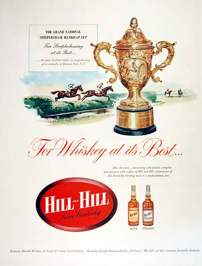 1954 Hill and Hill Bourbon Whiskey #004479