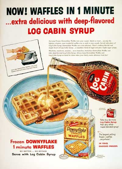 1954 Log Cabin Maple Syrup #004472