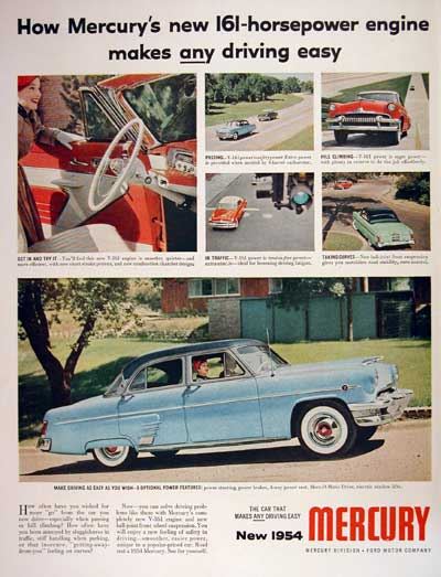 1954 Mercury Monterey Sedan #004451