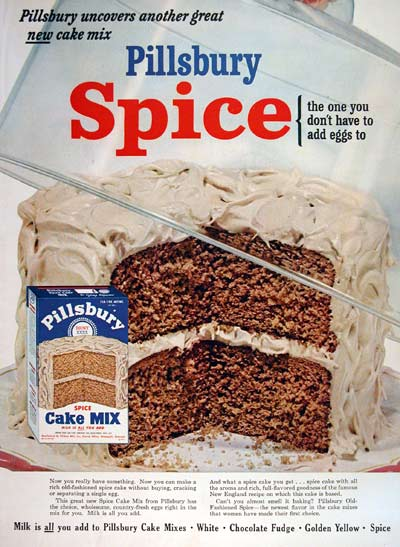 1954 Pillsbury Spice Cake Mix #004484
