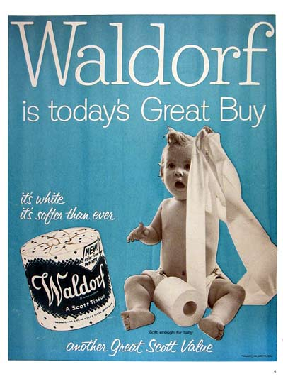 1954 Waldorf Bathroom Tissue #004485