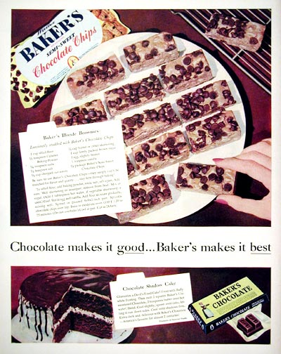 1955 Baker's Chocolate #015899