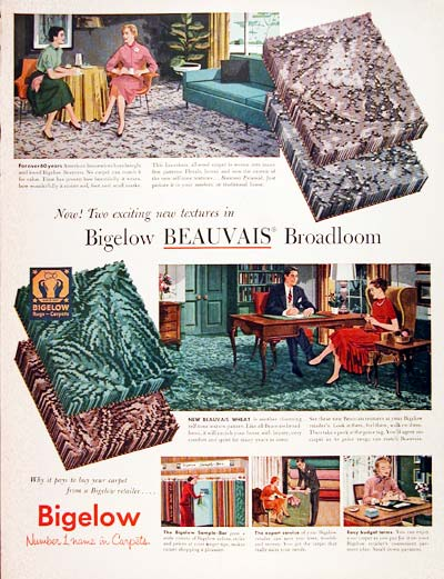 1955 Bigelow Carpets #007714