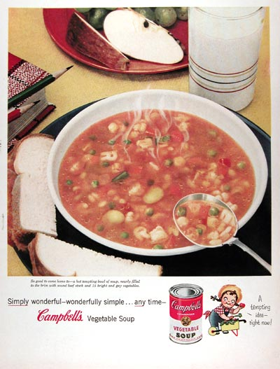 1955 Campbell's Vegetable Soup #023825