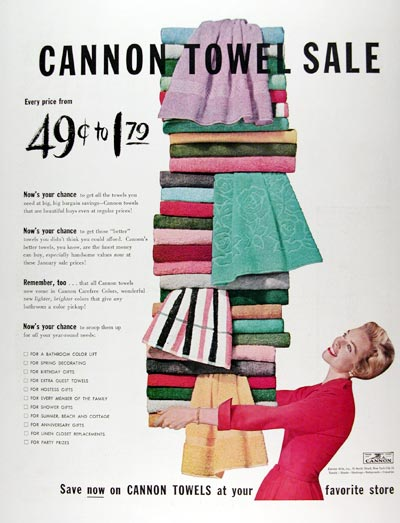 1955 Cannon Towel Sale #009624