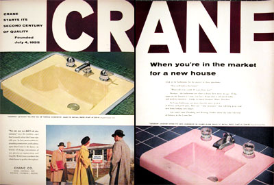 1955 Crane Bathroom Fixtures #015907